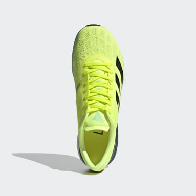 Running Yellow Adizero Boston 9 Shoes