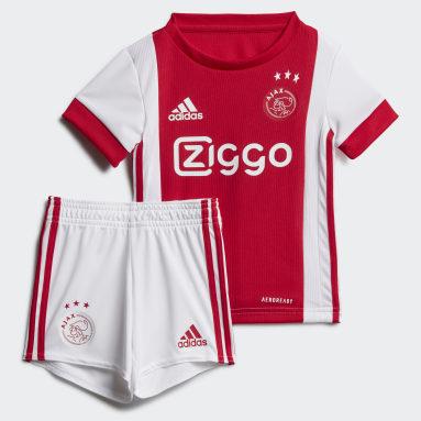 Deti Futbal biela Súprava Ajax Amsterdam Home Baby