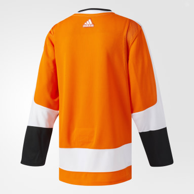 Maillot Flyers Domicile Authentique Pro Orange Hockey