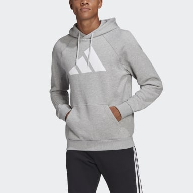 Men Sportswear Grey adidas Sportswear Badge of Sport Hoodie