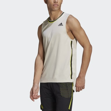 Men Tennis Beige Tennis HEAT.RDY Primeblue Sleeveless Shirt