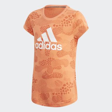 Mädchen Yoga Must Haves Graphic T-Shirt Orange