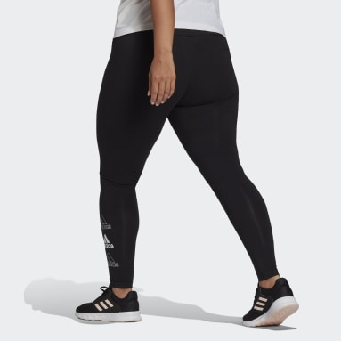 Women Sportswear Black adidas Essentials Stacked Logo High-Rise Leggings (Plus Size)