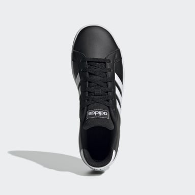 Kids Sport Inspired Black Grand Court Shoes