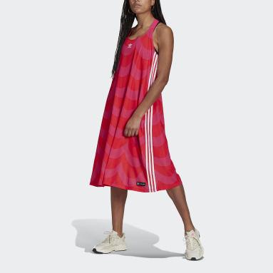 Women Originals Red Marimekko Midi Tank Dress