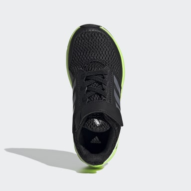 Kids Running Black FortaFaito Top Strap Shoes