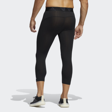 Men Training Black Techfit 3/4 Tights