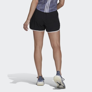 Women Running Black Marathon 20 Primeblue Running Shorts