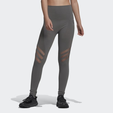Women adidas by Stella McCartney Beige adidas by Stella McCartney TRUESTRENGTH Warp Knit Yoga Leggings