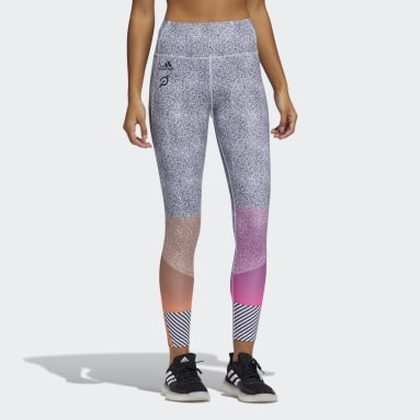 Women's Training Black adidas x Peloton 7/8 Length HEAT.RDY Tights