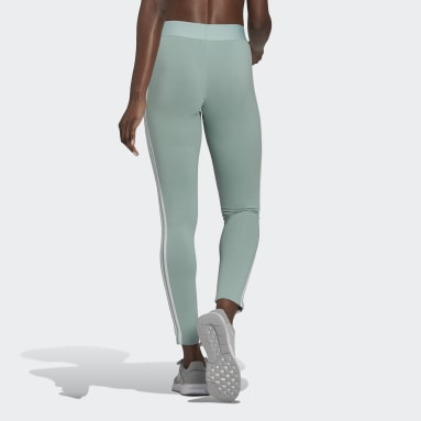 Women's Essentials Green LOUNGEWEAR Essentials 3-Stripes Leggings