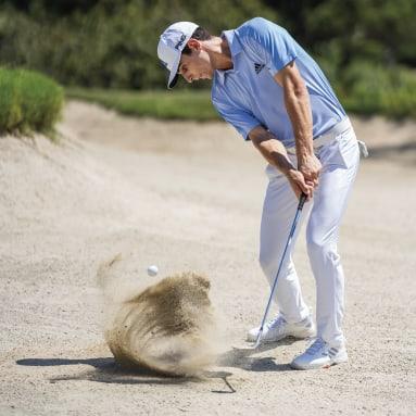 Muži Golf biela Nohavice Ultimate365 3-Stripes Tapered