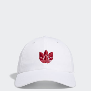Men's Originals White 3D Trefoil Strap-Back Hat