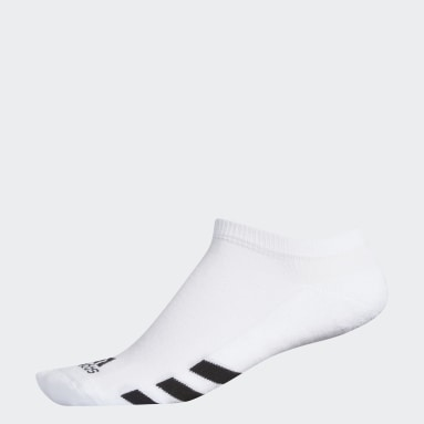 Men Golf White Single No-Show Socks