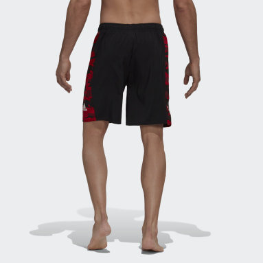 Men Swimming Black Manchester Swim Shorts