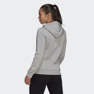 Sweat-shirt à capuche LOUNGEWEAR Essentials Logo Fleece Gris Femmes Sportswear