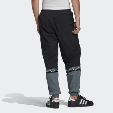 Men Originals Black Adicolor Sliced Trefoil Track Pants