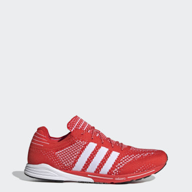 Running Red Adizero Prime Shoes