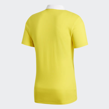 Men Football Yellow Condivo 18 Cotton Polo Shirt