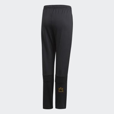 Pantalon Salah Football-Inspired Tapered Noir Garçons Fitness Et Training