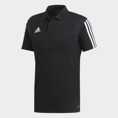 Men Football Black Tiro 19 Cotton Polo Shirt
