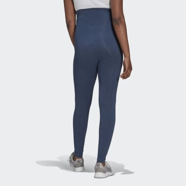 Women Sport Inspired Blue Essentials Cotton Leggings (Maternity)