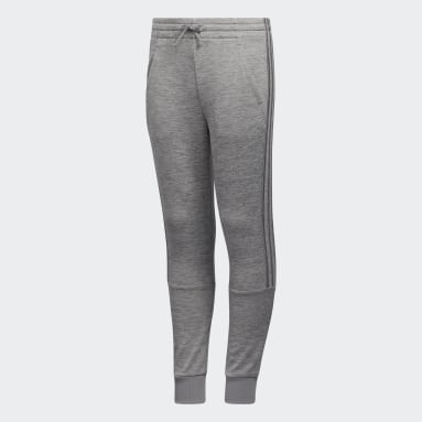 Children Training Grey Badge of Sport Fleece Joggers