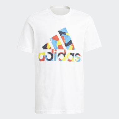 T-shirt adidas x Classic LEGO® Graphic Blanc Garçons Fitness Et Training