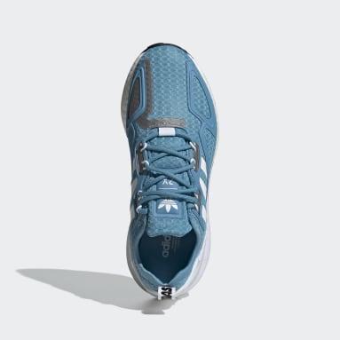 Sapatos ZX 2K Boost Azul Mulher Originals