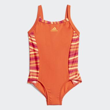 Kids 4-8 Years Water Sports Orange Swimsuit