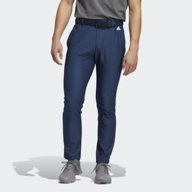 Men Golf Blue Ultimate365 3-Stripes Tapered Pants