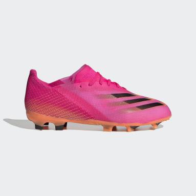 Børn Fodbold Pink X Ghosted.1 Firm Ground støvler