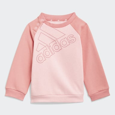 Kinderen Sportswear Roze adidas Essentials Logo Sweatshirt en Broek (Uniseks)