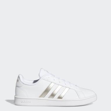 Sapatos Grand Court Base Branco Mulher Ténis