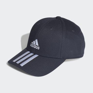 Cricket Baseball 3-Streifen Twill Kappe Blau
