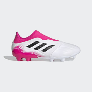 Soccer White Copa Sense.3 Laceless Firm Ground Cleats