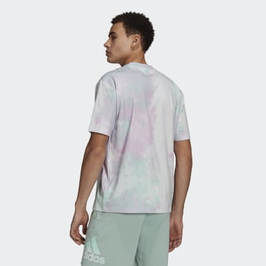 T-shirt Essentials Tie-Dyed Inspirational Turquoise Hommes Essentials