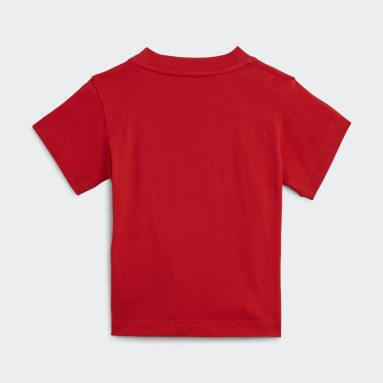Børn Originals Rød Trefoil T-shirt