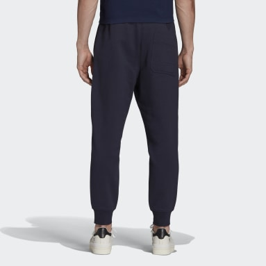 Men Y-3 Blue Y-3 Classic Terry Cuffed Pants