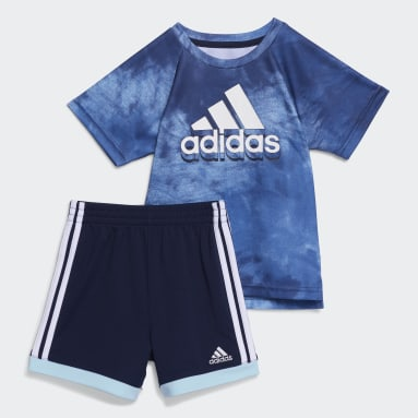 Infant & Toddler Training Blue Print Top and Shorts Set