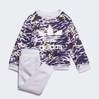Infants Originals Purple Crew Set