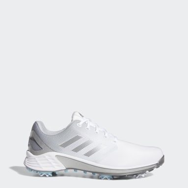 Men's Golf White ZG21 Wide Golf Shoes