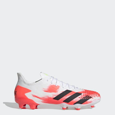 Football White Predator 20.2 Firm Ground Boots