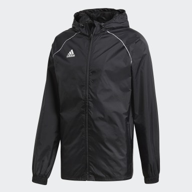 Men Gym & Training Black Core 18 Rain Jacket