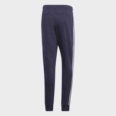 Pants Essentials 3 Franjas Tapered Cuffed Azul Hombre Sportswear