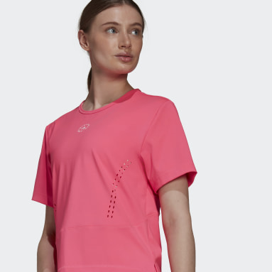 Dames adidas by Stella McCartney roze adidas by Stella McCartney TRUESTRENGTH Loose T-shirt