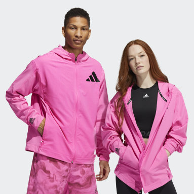Unite Full Zip 3-Stripes Woven Jakke (unisex) Rosa