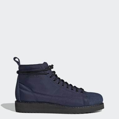 Women Originals Blue Superstar Boots