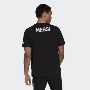 Men Football Black Lionel Messi Icon Tee