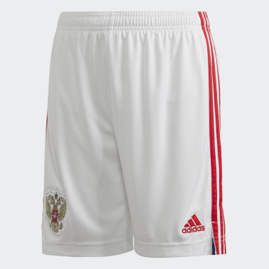Kids Football White Russia Home Shorts